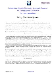 pdf fuzzy nutrition system