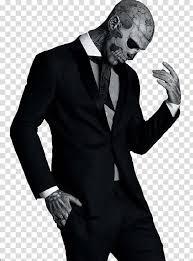 makeup wears black shawl lapeled suit