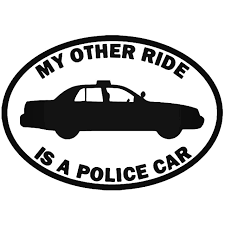 My Other Ride Police Vinyl Decal Sticker