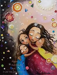 Tres hembras. Hermanas. mamá con tres hijas | Etsy
