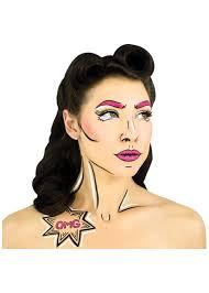 pop art stencil and makeup kit
