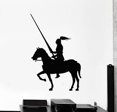 Vinyl Wall Decal Knight On Horse Armor Warrior Middle Ages Medieval St Wallstickers4you