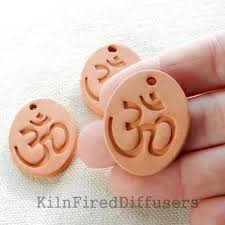 diffuser clay om ohm pendant from