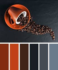 coffee grey and terracotta color scheme