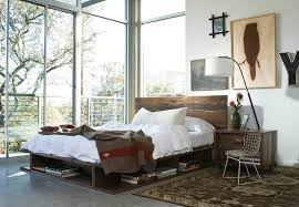 Los Angeles Industrial Floor Lamp Bedroom With Loft Retro Kids Chairs Platform Bed