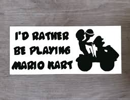 Mario Kart Sticker For Car Home Wall Laptop Window Etsy