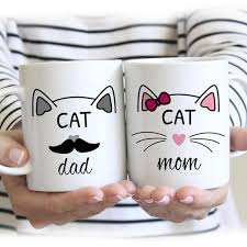 Cat Mom Cat Dad Mugs Milk Cup Wine Beer Cups Friend Gifts Coffee Cup Home Decal Novelty Porcelain Mugs Wish