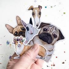 Bull Terrier Dog Vinyl Stickers 3 Inch Doggos Sticker Free Shipping Heather Kent Art