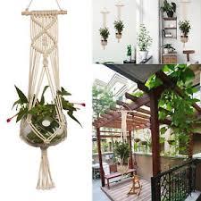 pot macrame plant hanger wall hanging