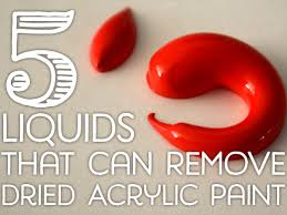 remove dried acrylic paint
