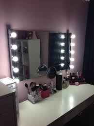 hollywood style mirror made with