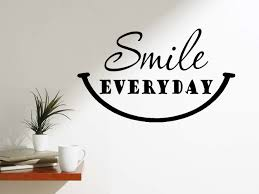 Winston Porter Smile Everyday Happy Quotes Motivating Wall Decal Wayfair