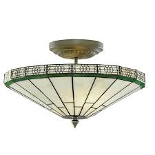 tiffany semi flush ceiling light
