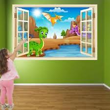 Cartoon Dinosaurs Wall Art Stickers Mural Decal Print Kids Room Decor He2 Ebay