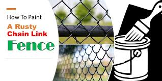 How To Clean And Repaint Your Old Rusty Chain Link Fence
