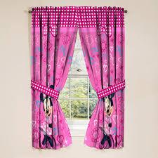Minnie Mouse Girls Bedroom Curtains 2 Piece Walmart Com Walmart Com