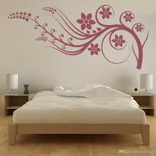 Flower Branch Wall Stickers For Bedroom Border Headboard Wall Decal Decor Kids Room Romantic Home Decoration Waterproof Kids Removable Wall Stickers Kids Room Stickers From Joystickers 10 76 Dhgate Com