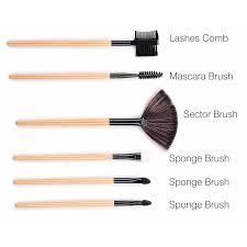 brush make up 32 set dengan pouch