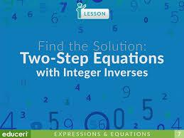 integer inverses lesson plans