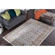 tayse rugs milan beige 5 ft x 7 ft