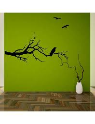 Tree Branch Raven Wall Decal For Over The Bed Https Www Etsy Com Listing 150917558 Tree Branch With Ravens Wall Dec Tree Wall Decal Wall Decal Sticker Mural