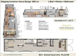 40 foot container home plan