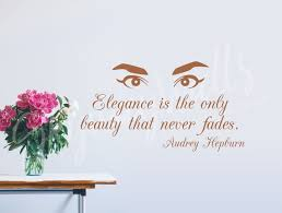 Audrey Hepburn Elegance Quote Vinyl Wall Decal Home Decor Etsy