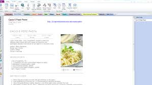 onenote to organize all your recipes