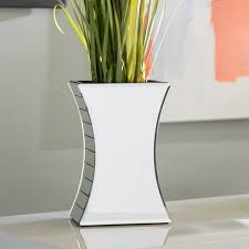 curved rectangular mirrored table vase