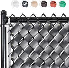 Amazon Com Fenpro Chain Link Fence Privacy Tape Obsidian Black Garden Outdoor