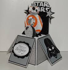 Star Wars Bb 8 Feliz Cumpleanos Hecho A Mano Tarjeta De Etsy