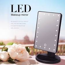 led touch screen makeup mirror tabletop