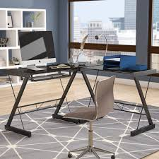 symple stuff hudnall glass l shape desk