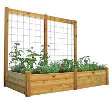 gronomics wood raised garden with