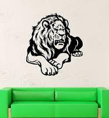 Wall Decal Animal Lion King Mane Predator Roar Mural Vinyl Stickers Ed056 Ebay