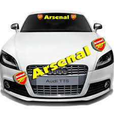 Car Front Window Windshield Banner Decal Auto Exterior Glass For Arsenal Sticker Ebay