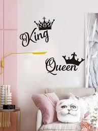 Queen King Crown Print Wall Sticker Romwe Usa