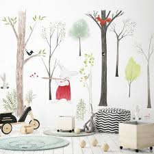 Forest Animals With Birch Trees Wall Decal The Treasure Thrift