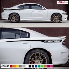 Decal Vinyl Sticker Rear Side Stripes For Dodge Charger Rt Srt Racing Kit Light Wish