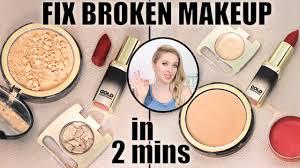 fix broken makeup in 2 mins eyeshadows