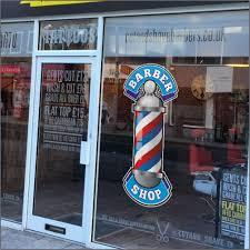 Barber Shop Pole Window Sticker Shop Window Stickers