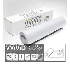 White Matte Architectural Vinyl Craft Vinyl Decal 12 X 84 7ft Adhesive Roll For Cricut Silhouette Cameo Vvivid Deco65 Walmart Com Walmart Com