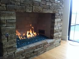 vented fire glass fire and