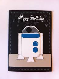 Star Wars R2d2 Punch Art Card Stampin Up Tarjetas Diy