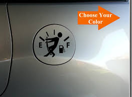 Funny Gas Cap Decal Fuel Door Decal Low Gas Sticker Etsy