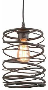 pendant light fixture with brown color