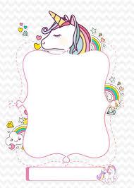 Anadir Pin De Imagen Tarjetas De Unicornio Invitacion De