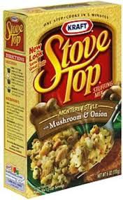 mushroom onion stuffing mix