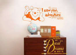 I Knew An Adventure Was Going To Happen Winnie Pooh Disney Vinyl Wall Decal Sold By Decal Drama On Storenvy