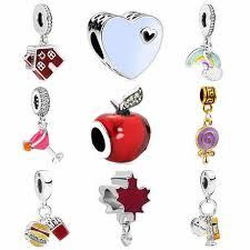 crystal heart pendant charms beads